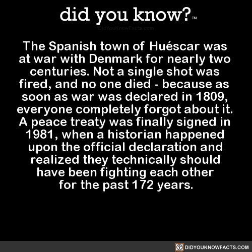 the-spanish-town-of-huéscar-was-at-war-with - did you know?